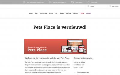 Pets Place lanceert haar nieuwe website